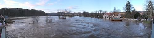 water river germany deutschland hessen flood harbour hafen fluss hochwasser werra überschwemmung wanfried schlagd