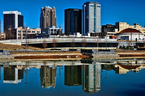 park city railroad reflection buildings birmingham day alabama clear dome topaz adjust denoise