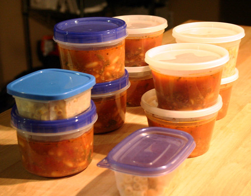 Soup In Containers