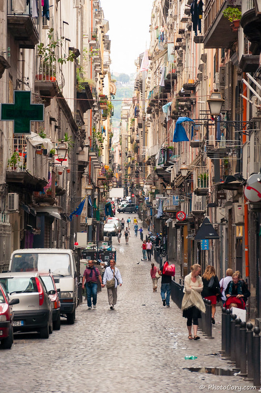 Street and Buildings in Napoli