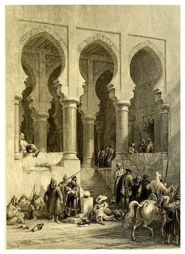 013.Vestibulo de la tesoreria en la ciudadela de Tanger-Picturesque views in Spain and Morocco…Tomo II-1838-David Roberts