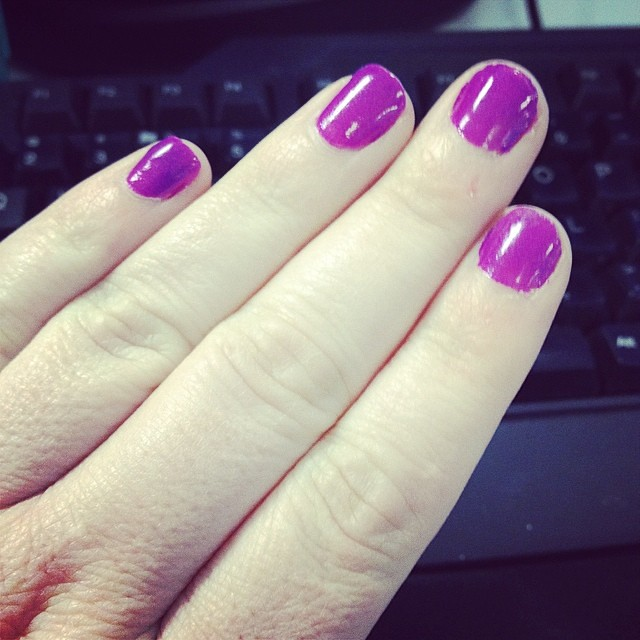 New Nail Polish OBSESSION (Julep Flora.) it's a weird pinky purple and I ❤️ it!