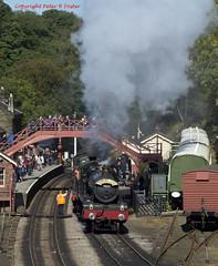 GWR 7822 & 2807 1124 Grosmont - Pickering 30-09-16