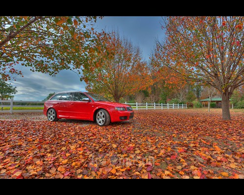 autumn red fall sc colors leaves car clouds fence conway tripod southcarolina audi hdr avant gitzo s4 photomatix mynewusedcar 7exposure arcatech gt2531 nikonafsnikkor1635mmf4gedvr
