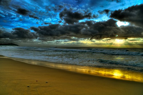 lighthouse beach clouds sunrise nsw hdr nikond5000
