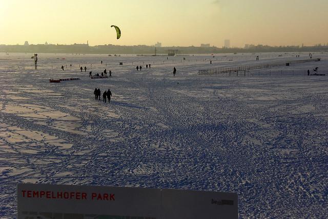 Wintervergnügen - Tempelhofer Feld