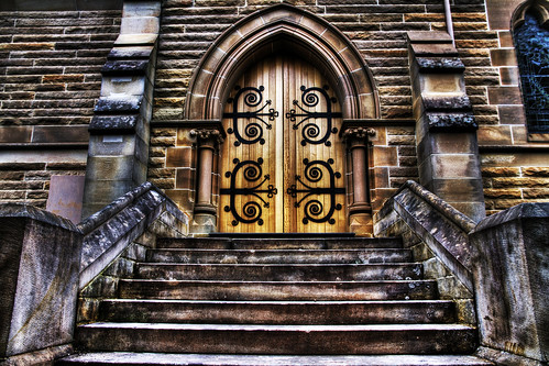 Church Door and Steps