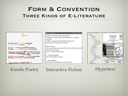 Slide from Tragedy in Electronic Literature