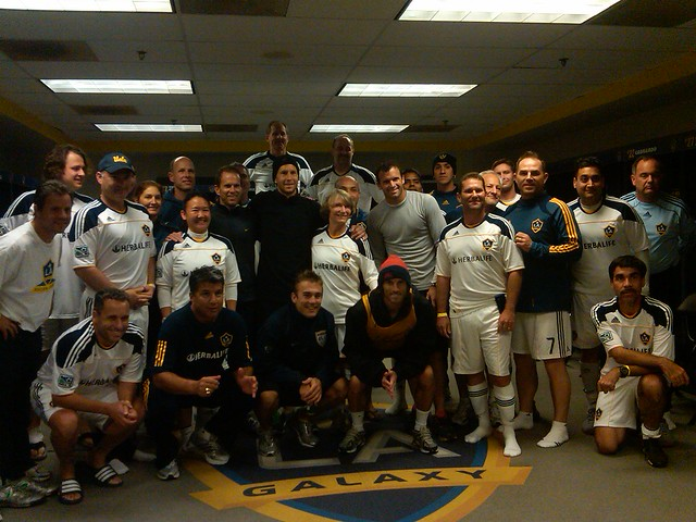 2010 LA Galaxy Adult Fantasy Camp. Chris Klein, Gregg Berhalter, ...