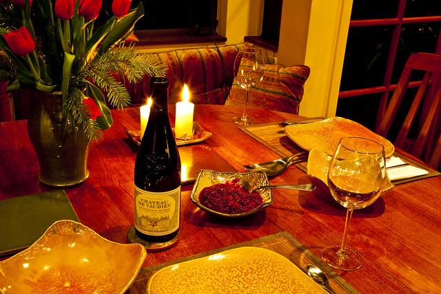 Table Set For Christmas Dinner Daily Shoot Illustrate