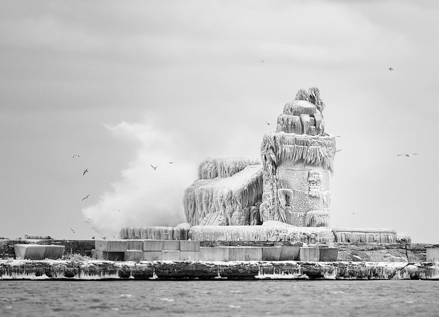 West Pier Lighthouse (Encased in Ice)