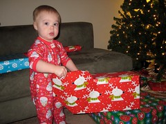 Christmas morning 2010 - we won't have this many gifts this year!