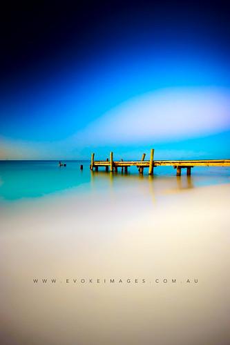 longexposure sunset sky water sand jetty sony australia wa westernaustralia busselton a350 mathewsacco evokeimages