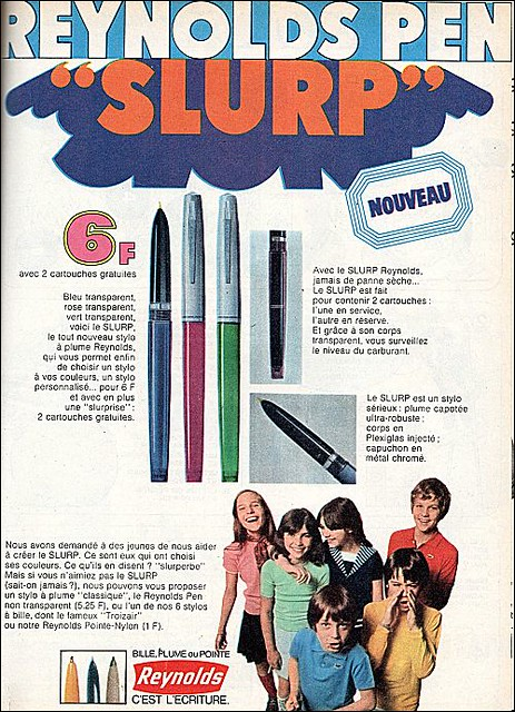 the 1960s-ad for Slurp Reynolds pen