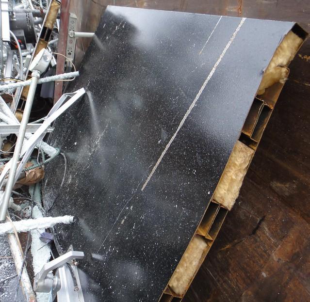 Hollow metal firedoor with fiberglass insulation flickr for Fiberglass insulation fire rating