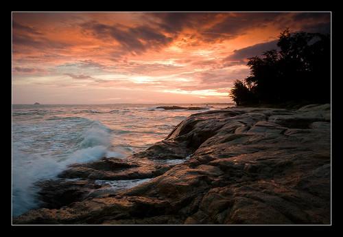 sunset landscape vietnam