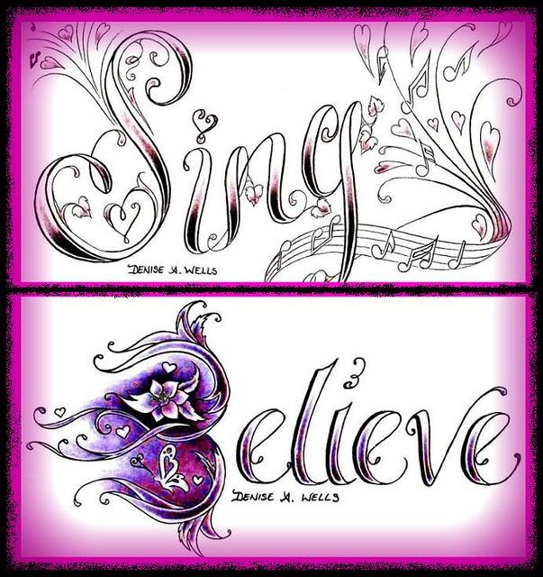 Believe Tattoo Design by