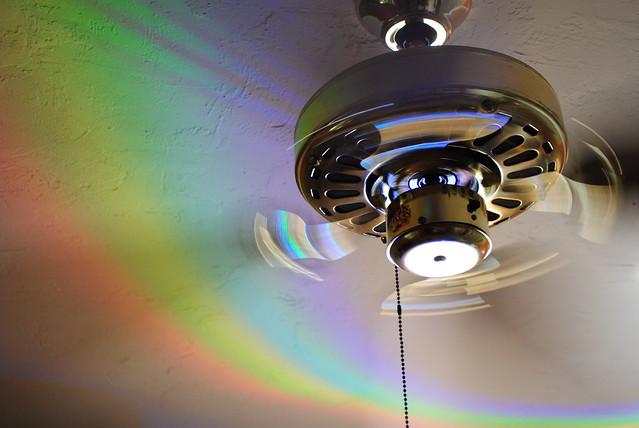 Rainbow Ceiling Fan : Rainbow fan flickr photo sharing