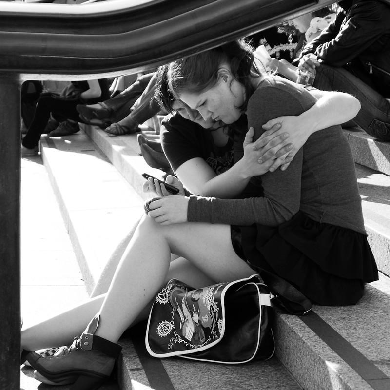 UK Society 61: Couple in Trafalgar Square