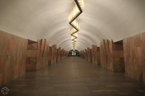 Moscow Metro Empty Tunnel