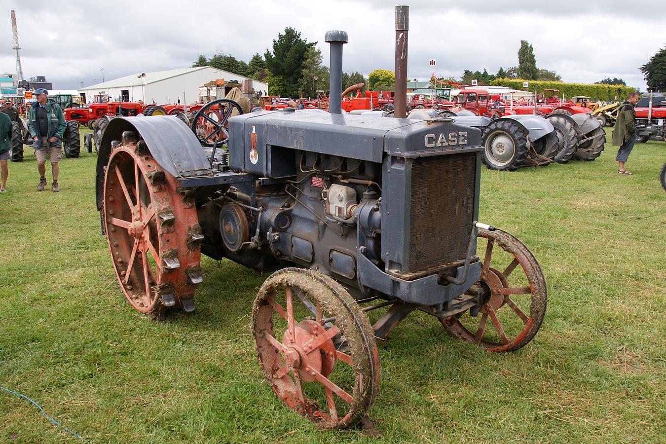 Case Model C : Case model c tractor crank up day at edendale