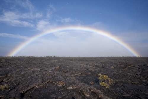 Magic above Lava Fields