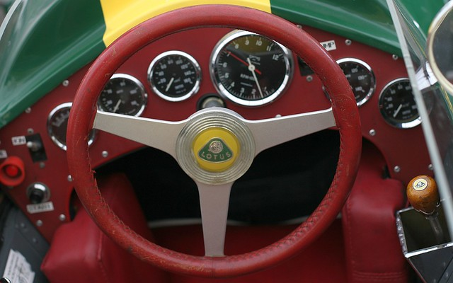 Jim Clark's Lotus F1 cockpit at Snetterton Lotus Festival 2010