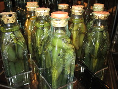 pickling, bottle, green, produce, food preservation, food, canning,