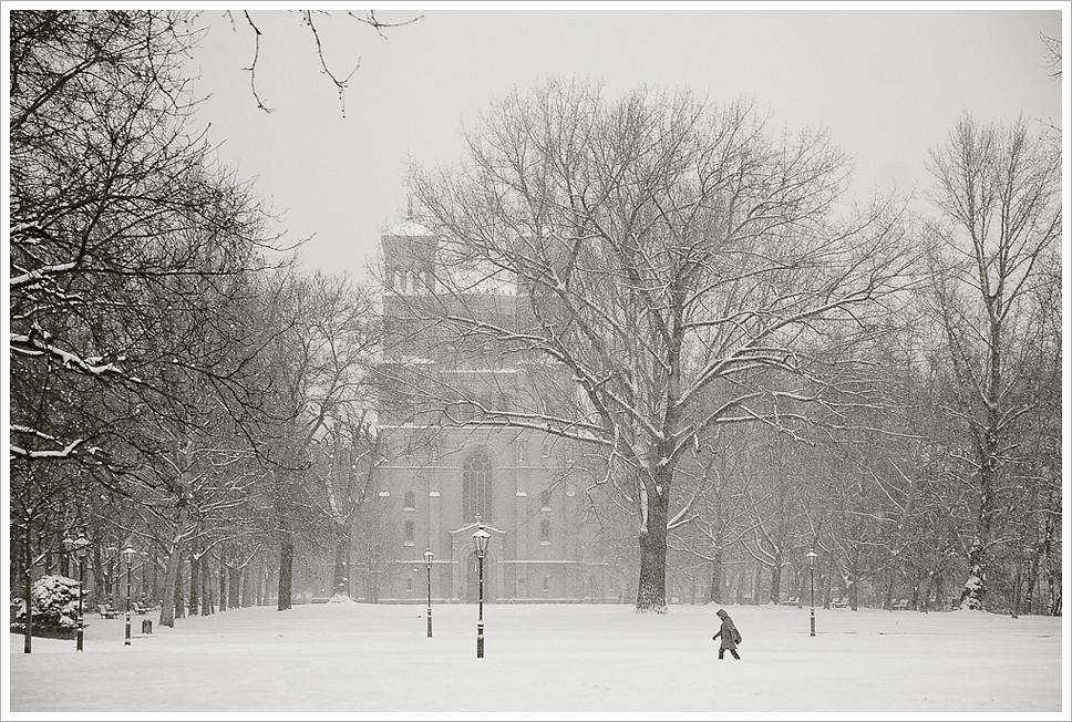 Berlin under snow