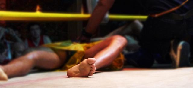 Thai Boxing. Chiang Mai, Tailandia.