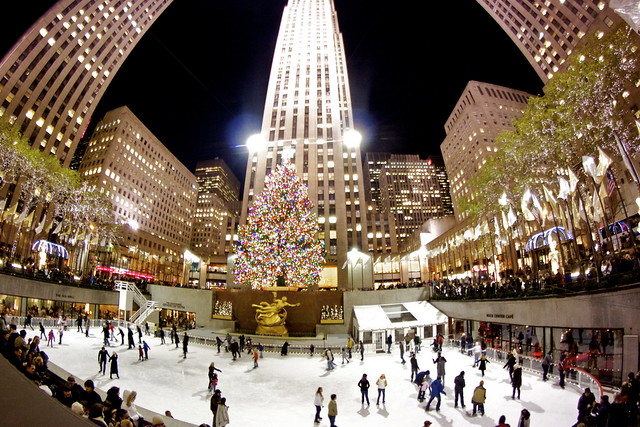 encendido del árbol de navidad en Rockefeller Center