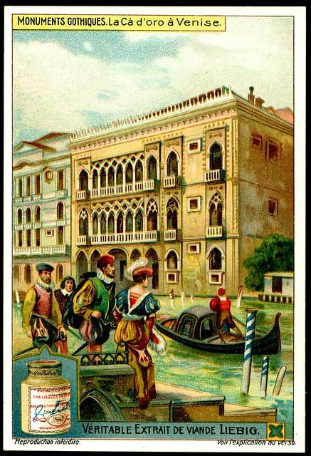 Liebig S1051 Gothic Buildings ~ Palazzi Ca'd'oro, Venice