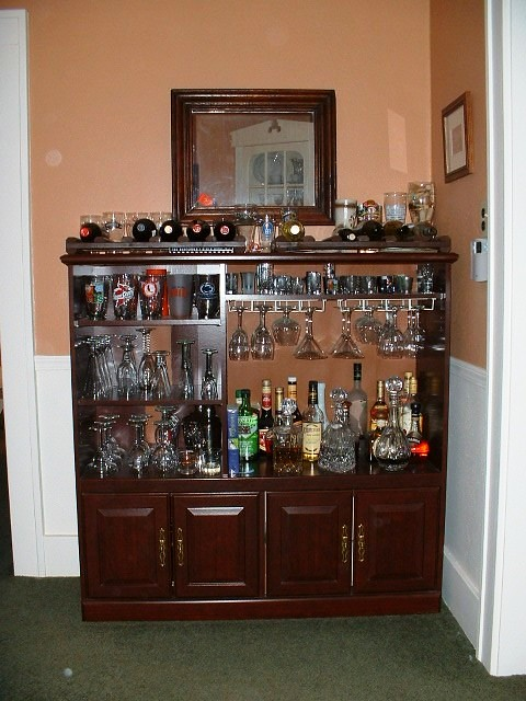 Entertainment Center Repurposed Flickr Photo Sharing