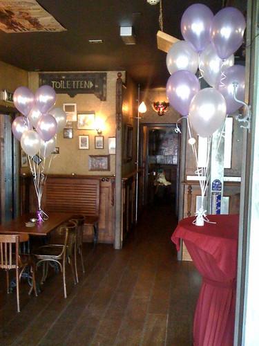 Tafeldecoratie 8ballonnen Pimpelaer Barendrecht