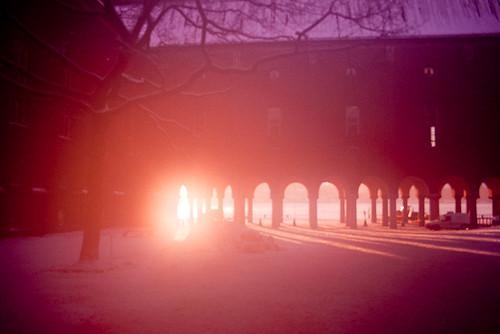 city pink sunset sun snow blur ice digital sunrise canon fire eos rebel hall europe purple sweden stockholm violet eu flare sverige sergei stadshuset stadshus xti 400d yahchybekov serhio serhiophoto
