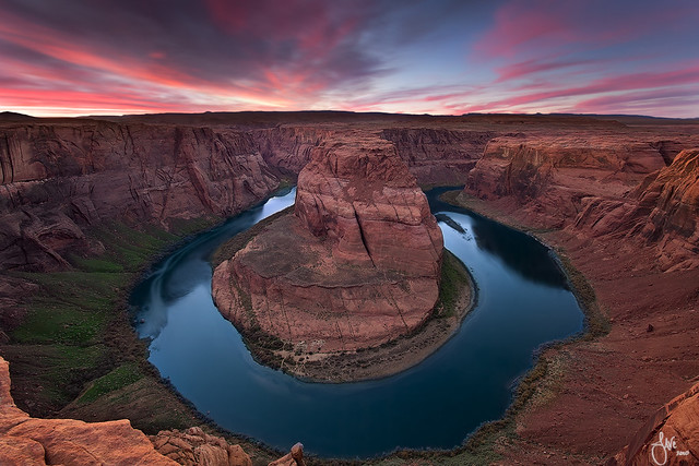 nature landscape , Living on the edge - Horseshoe Bend, Page, Arizona