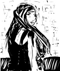 sketch, manga, monochrome photography, drawing, cartoon, monochrome, illustration, black-and-white,