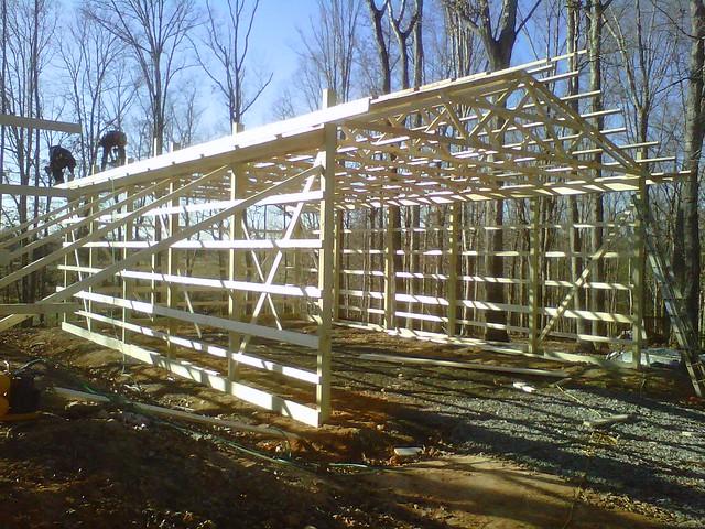 Diy pole barn 39 s hay storage flickr photo sharing for Hay pole barns