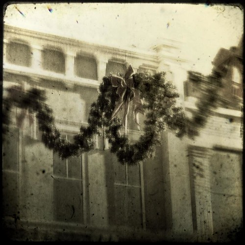 christmas canon vintage square texas garland faded aged wreaths textured ttv christmaswreaths streetdecorations southlaketownsquare fauxttv texturesquared t1i