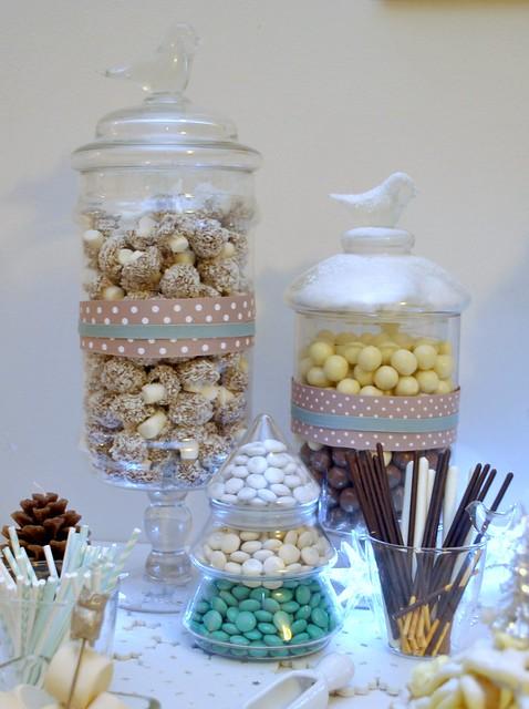 Bird candy jars