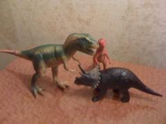 animal figure, velociraptor, tyrannosaurus, dinosaur, toy,