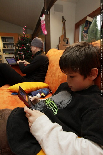 post xmas recovery   nick plays video games and grandpa checks the internet