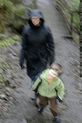 sequoia and grandma neeta on the trail