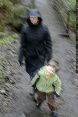 sequoia and grandma neeta on the trail