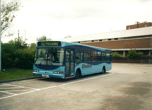 East Lancashire Spryte Y8 BLU, Bluebird Bus and Coach, Middleton Bus Station