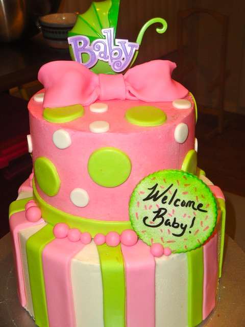 pink green baby shower cake pink and green baby shower cak