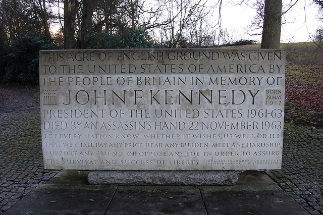 John F Kennedy memorial, Runnymede