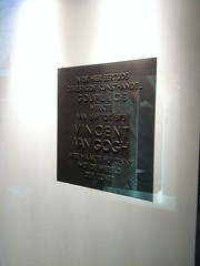 Photo of Vincent Van Gogh bronze plaque