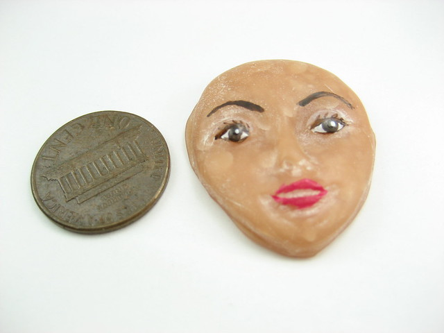 Clay face painted