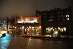 STARBUCKS COFFEE, meeting rooms, cloud bank, green light, Capitol Hill, Seattle, Washington, USA